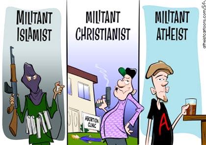 Pushy damn secularists