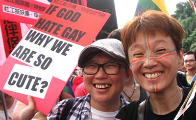 Thousands push for marriage equality in Taiwan