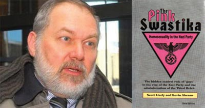 Scott Lively, author of The Pink Swastika, which blames the rise of Nazism on The Gays