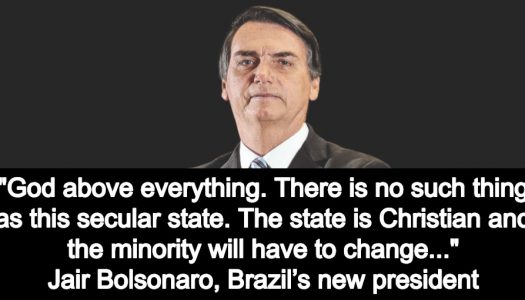Brazil's President-elect threatens war against gay rights and secularism