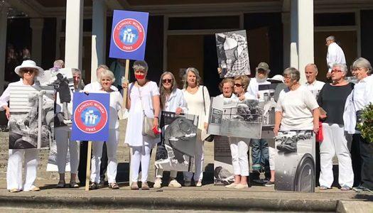 Gray power manifests itself at an Oregon Catholic church