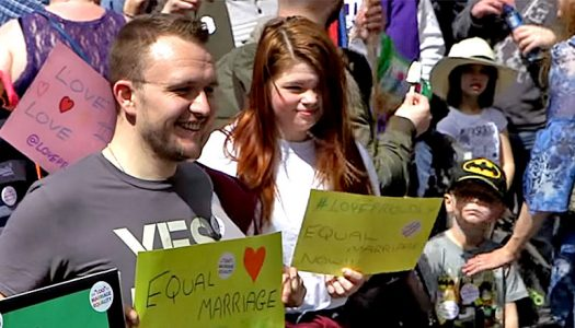 Jubilant scenes as gay marriage becomes law in Northern Ireland